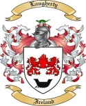 Laugherty Family Crest from Ireland