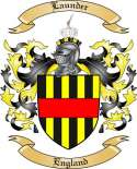 Launder Family Coat of Arms from England