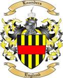 Launders Family Coat of Arms from England