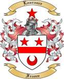 Laurance Family Coat of Arms from France