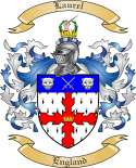 Laurel Family Coat of Arms from England