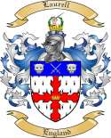 Laurell Family Crest from England