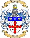 Laurence Family Coat of Arms from England
