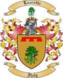 Lauretta Family Crest from Italy