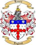 Laurie Family Crest from England