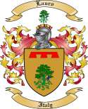 Lauro Family Crest from Italy