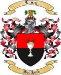 Laury Family Coat of Arms from Scotland