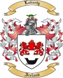Laverty Family Crest from Ireland