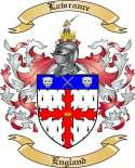 Lawrance Family Crest from England
