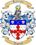 Lawrence Family Coat of Arms from England2
