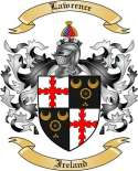 Lawrence Family Crest from Ireland