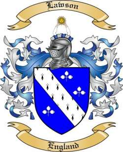 Lawson Family Crest From England2 By The Tree Maker