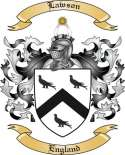 Lawson Family Crest from England