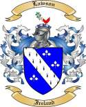 Lawson Family Crest from Ireland
