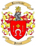 Lazowski Family Coat of Arms from Poland