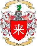 Le Family Coat of Arms from China