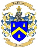 LeFaivre Family Coat of Arms from France