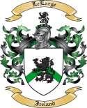 LeLarge Family Crest from Ireland