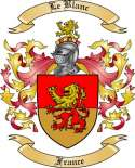 Le Blanc Family Crest from France