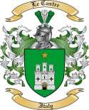 Le Castre Family Coat of Arms from Italy