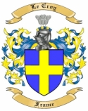 Le Croy Family Coat of Arms from France