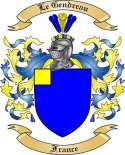 Le Gendreau Family Coat of Arms from France
