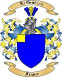 Le Gendron Family Coat of Arms from France