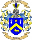 Le Peltier Family Coat of Arms from France