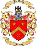 Le Roux Family Crest from France