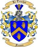 Le Touchet Family Crest from France