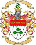 Leach Family Crest from Ireland2