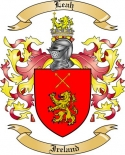 Leah Family Coat of Arms from Ireland
