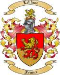 Leblanc Family Coat of Arms from France