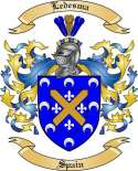 Ledesma Family Crest from Spain