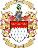 Leech Family Coat of Arms from England