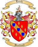 Leech Family Coat of Arms from Scotland