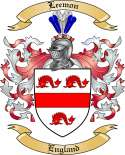 Leemon Family Crest from England2