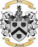 Lees Family Crest from Ireland