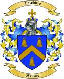 Lefebvre Family Crest from France
