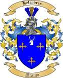 Lefebvres Family Coat of Arms from France