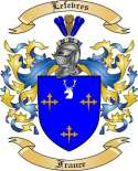 Lefevres Family Coat of Arms from France