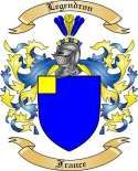 Legendron Family Coat of Arms from France