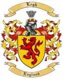Legh Family Coat of Arms from England