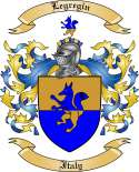 Legregin Family Crest from Italy