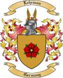 Leheman Family Coat of Arms from Germany