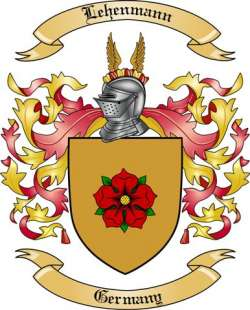 Lehenmann Family Coat of Arms from Germany
