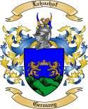 Lehnehof Family Crest from Germany