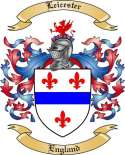 Leicester Family Crest from England