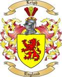 Leigh Family Coat of Arms from England