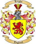Leighs Family Coat of Arms from England